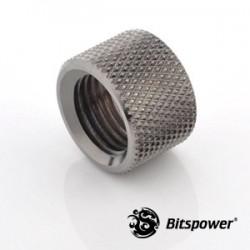 Bitspower G1/4 Female to Female 12mm Uzatma Black Nikel