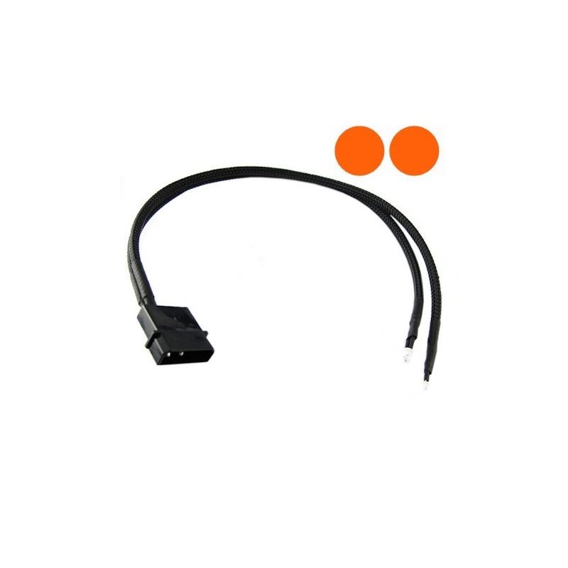 XSPC İkili 3mm Ultra-Bright LED 30cm : Orange