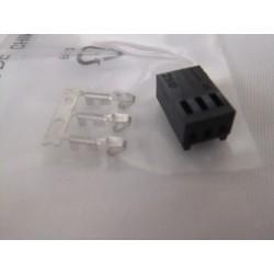 3 Pin Dişi Konnektör (Siyah)