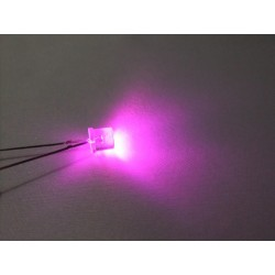 Pembe Led (5 mm - Kesikbaş)