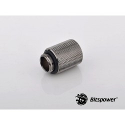 Bitspower G1/4 Male to Female 15mm Uzatma - Black Sparkle