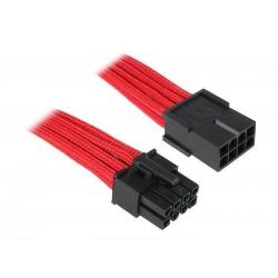 BitFenix Alchemy Multisleeve 45cm 8-Pin EPS VGA Uzatma Kablo - Red Sleeve/Black Connector