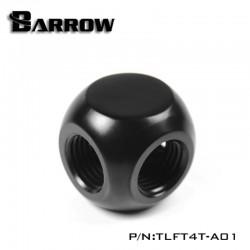 "Barrow Metal G1/4"" 4 Dişi Girişli Küp Rakor - Siyah"
