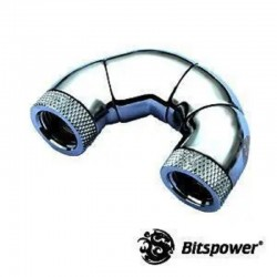 "Bitspower Silver Shining Five Rotary Snake-Style Dual IG1/4"" Extender"