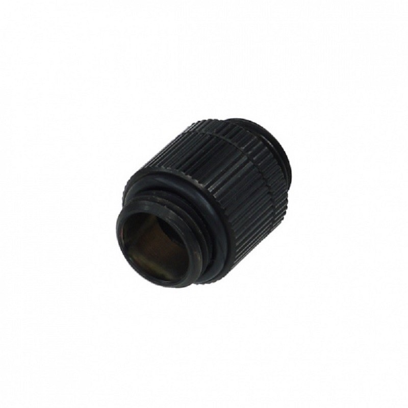 """Alphacool HF G1/4"""" Male to Male Extender Rotary - Black"""